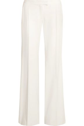 STELLA McCARTNEY Canvas-trimmed wool-twill wide-leg pants