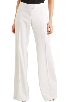 Canvas Trimmed Wool Twill Wide Leg Pants by Stella Mc Cartney