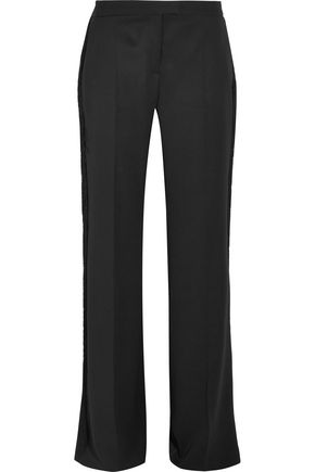 STELLA McCARTNEY Fringed wool wide-leg pants