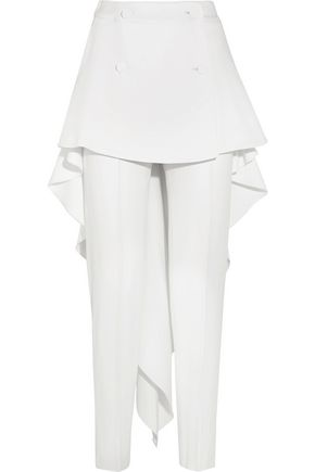 ANTONIO BERARDI Layered stretch-cady slim-leg pants