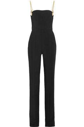 ANTONIO BERARDI Chain-embellished stretch-cady jumpsuit