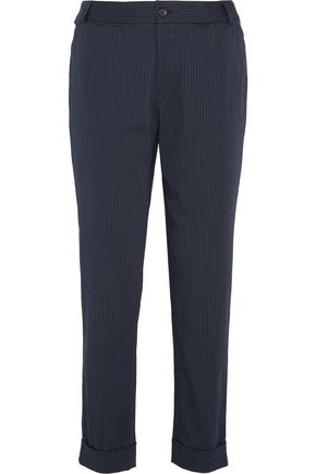 A.P.C. Adele pinstriped cotton-blend tapered pants