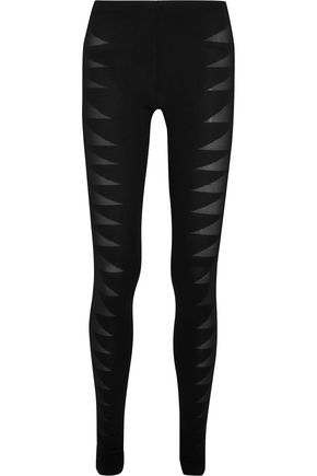 RICK OWENS Devoré stretch-jersey leggings