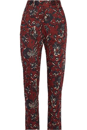 ISABEL MARANT ÉTOILE Janelle printed cotton tapered pants