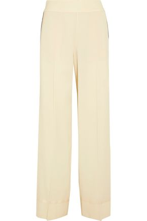 MAISON MARGIELA Grosgrain-trimmed wool-blend pants