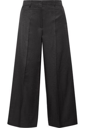 BARBARA CASASOLA Wool and silk-blend culottes