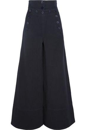 CHLOÉ Cotton-blend twill wide-leg pants