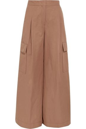 MSGM Cotton-twill wide-leg pants