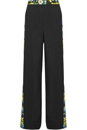 MSGM Floral-print crepe wide-leg pants