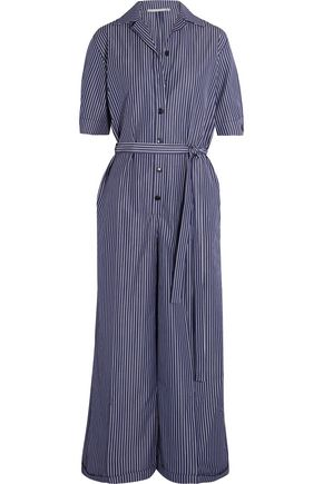 STELLA McCARTNEY Striped cotton jumpsuit