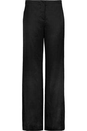 HELMUT LANG Satin-twill wide-leg pants