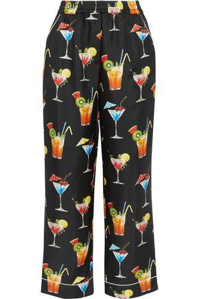 DOLCE & GABBANA Printed silk-twill pants