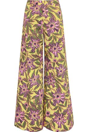 REDValentino Floral-print stretch-cotton wide-leg pants
