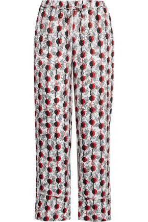 MARNI Silk-jacquard straight-leg pants