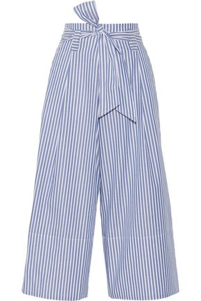 BY MALENE BIRGER Bennih cropped striped cotton-poplin wide-leg pants