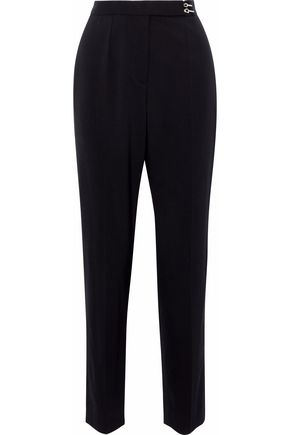 LANVIN Embellished wool-blend twill tapered pants