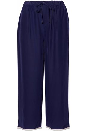 SLEEPY JONES Silk pajama pants