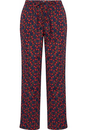 SLEEPY JONES Floral-print cotton pajama pants