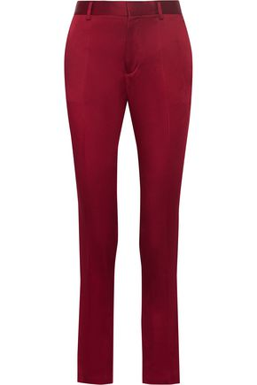 HAIDER ACKERMANN Crepe de chine tapered pants