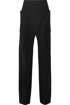 RICK OWENS Stretch-wool crepe wide-leg pants