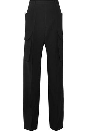 RICK OWENS Stretch-wool crepe wide-leg pants