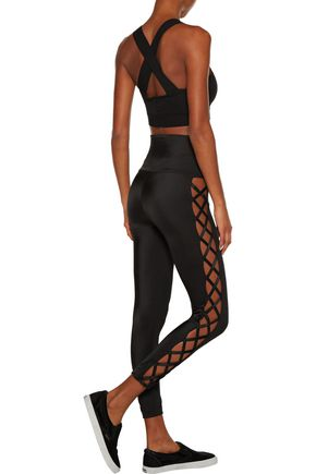 NORMA KAMALI Cutout stretch-jersey leggings