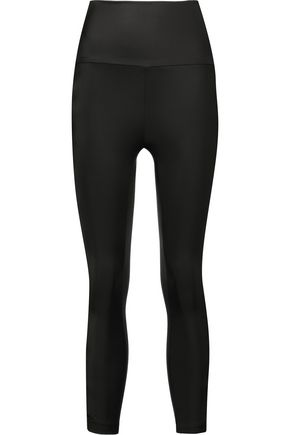 Cutout stretch-jersey leggings