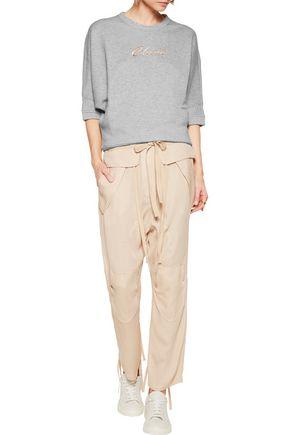 CHLOÉ Silk-blend cloqué tapered pants