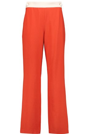 SEE BY CHLOÉ Two-tone crepe straight-leg pants