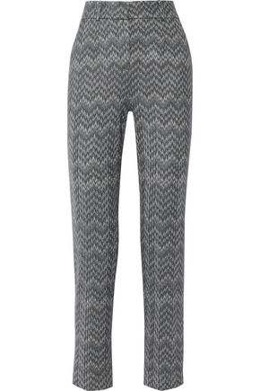 MISSONI Crochet-knit wool-blend straight-leg pants