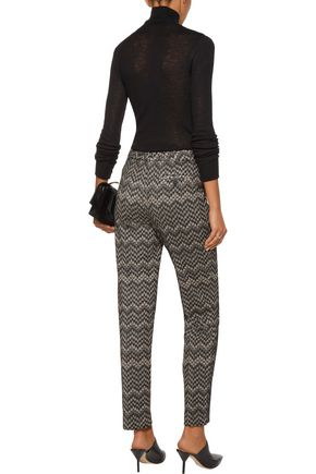 MISSONI Crochet-knit wool-blend straight-leg pants
