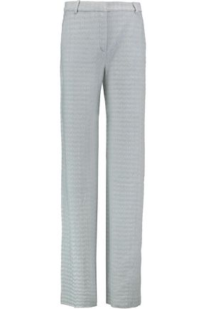 MISSONI Crochet-knit wool-blend wide-leg pants