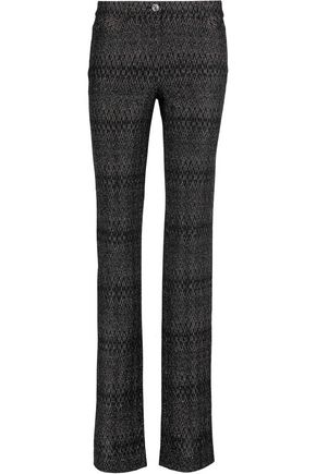 MISSONI Metallic crochet-knit straight-leg pants