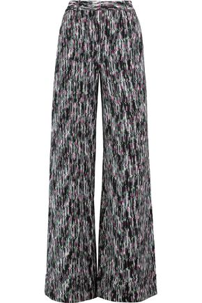 MISSONI Crochet-knit wool-blend wide-leg pants