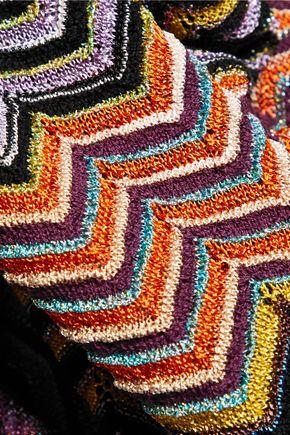 MISSONI Metallic crochet-knit leggings