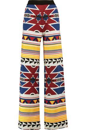 STELLA JEAN Wool jacquard-knit wide-leg pants