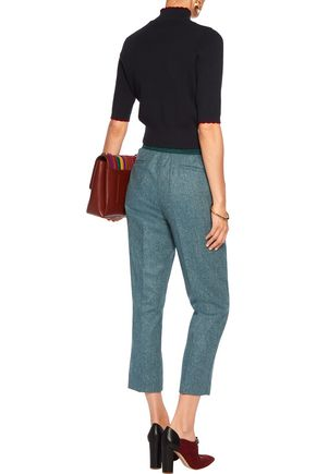 STELLA JEAN Wool-blend straight-leg pants