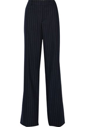 PIERRE BALMAIN Striped wool-blend wide-leg pants