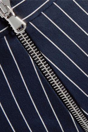 PIERRE BALMAIN Striped cotton-blend tapered pants
