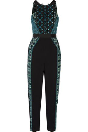 PETER PILOTTO Atom embroidered crepe jumpsuit