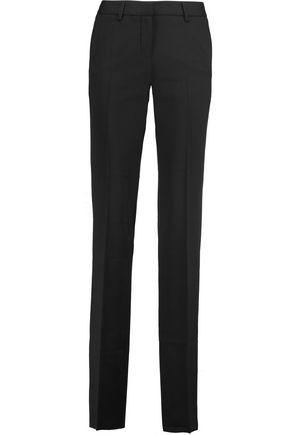ROBERTO CAVALLI Wool-crepe straight-leg pants