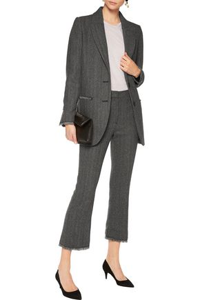 BY MALENE BIRGER Frayed herringbone bootcut pants