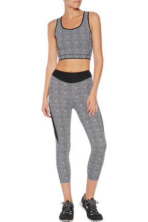 SÀPOPA Valeria paneled textured stretch-knit leggings