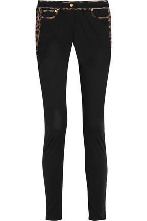 ROBERTO CAVALLI Cotton-twill skinny pants