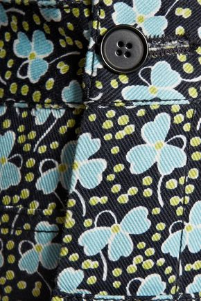 PHILOSOPHY di LORENZO SERAFINI Printed cotton-blend twill overalls