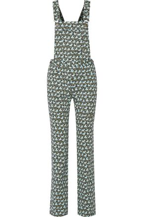 PHILOSOPHY di LORENZO SERAFINI Printed cotton-blend twill overalls