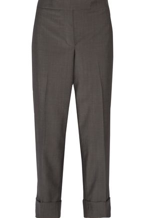 THOM BROWNE Classic wool and mohair-blend straight-leg pants