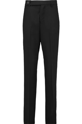 RICK OWENS Wool-twill relaxed-fit pants