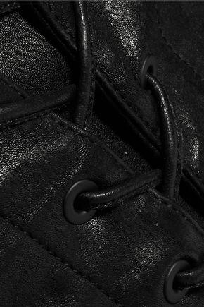 RAG & BONE/JEAN Lace-up leather skinny pants