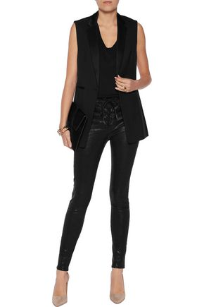 RAG & BONE Lace-up leather skinny pants
